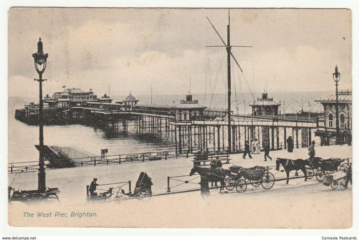 The West Pier, Brighton, Sussex, 1907 - Stafford's Postcard
