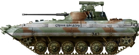BMP-2 in Ukrainian service - Stepan Bandera, Donetsk 2014