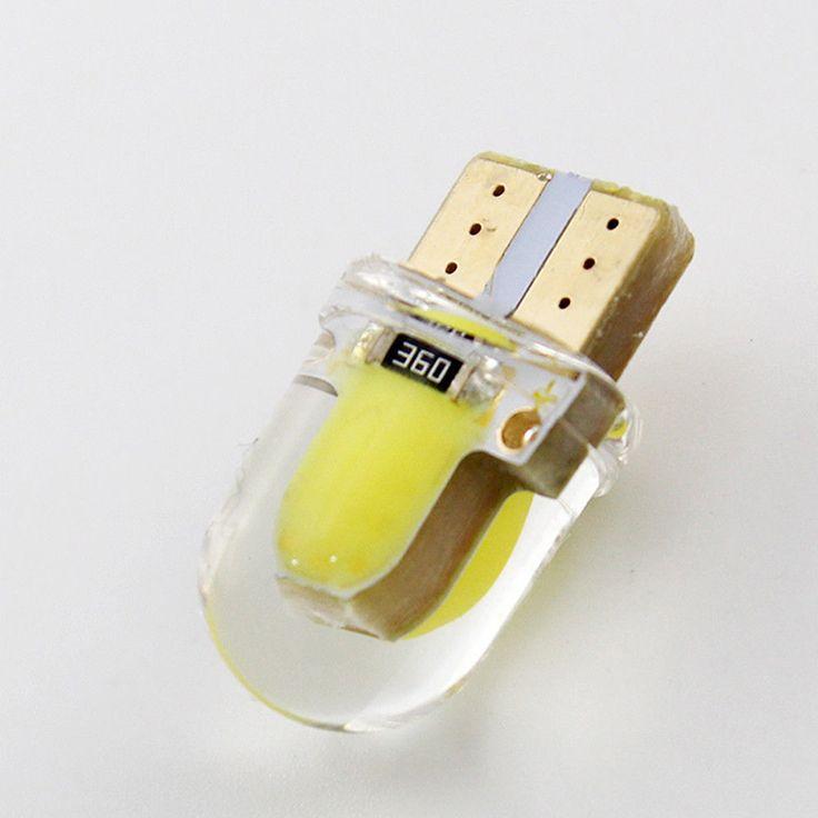 Gorąca Sprzedaż 1 sztuk COB T10 194 168 W5W 8 SMD 4 W 80 Lumenów krzemionkowy Super Bright LED Włącz Boczne Tablicy Rejestracyjnej Lampa Światła Żarówki DC12V