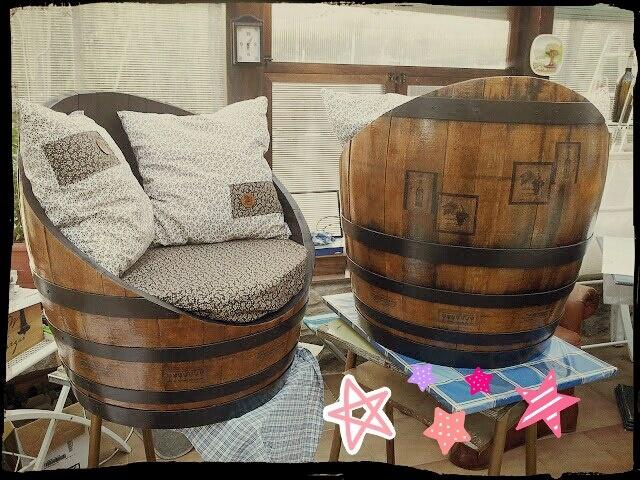 De barricas a cómodos sillones