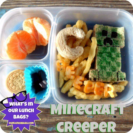 Whats In Our Lunch Bags?: Minecraft Creeper