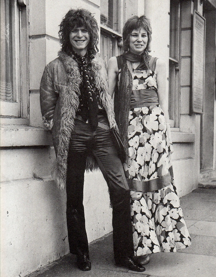 David Bowie and his ex-wife Angie 60s.