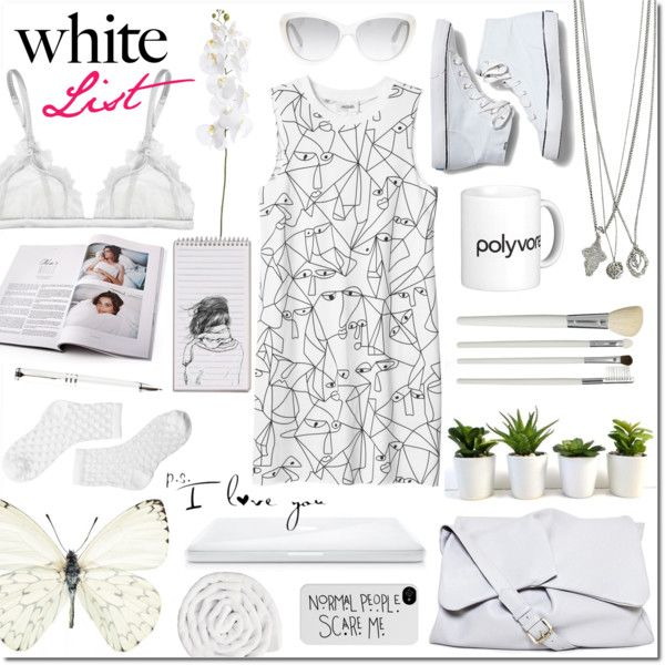 White list by justlovedesign on Polyvore featuring Monki, La Perla, Keds, ippolito, Goti, Marc by Marc Jacobs, Cath Kidston, VIPP, Linea and Versus