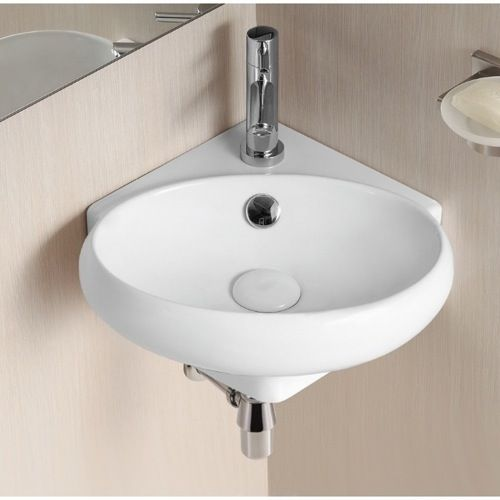 bathroom sink caracalla ca4518 oval white ceramic wall mounted corner bathroom sink ca4518