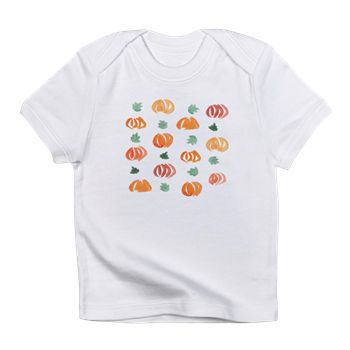 Infant T-Shirt With Pumpkins And Leaves