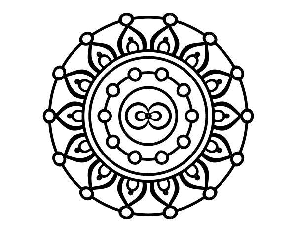 59 best dibujos de mandalas para colorear images on pinterest for Mandala meditation coloring pages