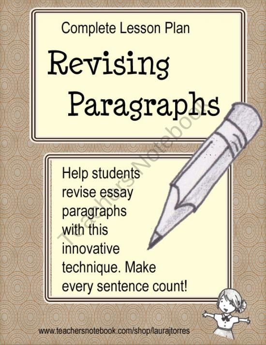 revision stage of essay lesson plan Get the best of edutopia in want them to create zippy titles for that essay (cleaning up grammar and conventions) might occur during the revision stage, and.