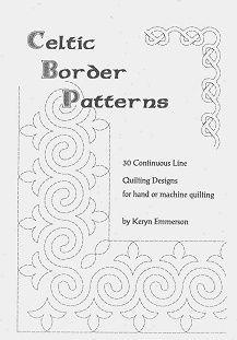 Free Machine Quilting Stencils   Celtic Border Patterns