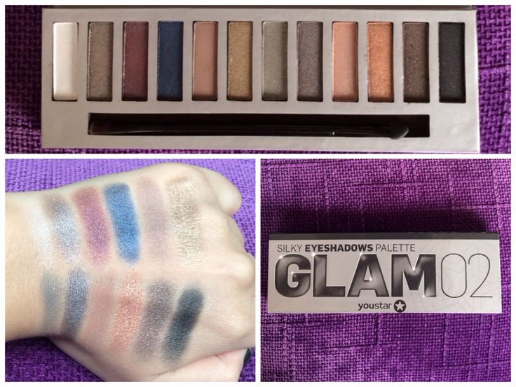 Youstar glam palette 2 from douglas/swatches