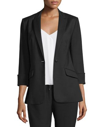 Alex+Stretch+Crepe+Blazer,+Black+by+Elizabeth+and+James+at+Neiman+Marcus.