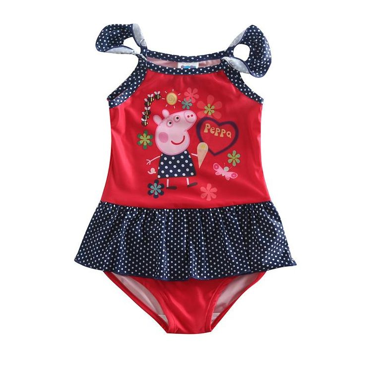 Wholesale cheap kids clothes online, One-piece   - Find best  Girls Swimwear Cute Swimwear for Girls Summer Style Cartoon One Piece Swimming Suit Cartoon Pig Printing R4786 at discount prices from Chinese Kids Swimwear supplier - babykids2015 on DHgate.com.