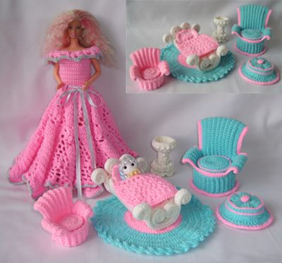 buy crocheted doll clothing - Google Search
