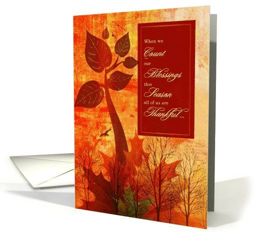 from All of Us on Thanksgiving Autumn Foliage card