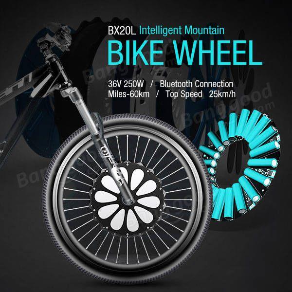 LVBU BX20L 26 inch 36V 250W Intelligent Mountain Bike Wheel DIY Modified E-bike Front Wheel 60km Long Life Bluetooth Sale - Banggood.com