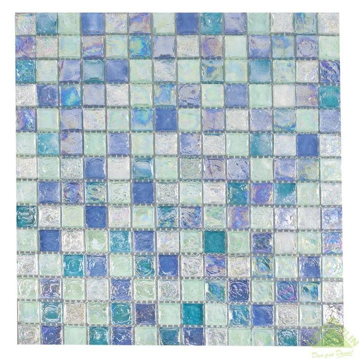 Мозаика стеклянная Artens, голубой микс, 300х300х8 мм, Мозаика - Каталог Леруа Мерлен