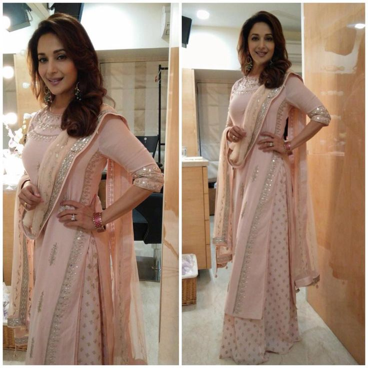 The breathtaking Madhuri Dixit - Nene in a blush peach ‪#‎AnitaDongre‬ gotapatti embroidered kurta and printed palazzos. ‪#‎occasionwear‬ ‪#‎Indian‬ ‪#‎Heritage‬ ‪#‎intricate‬ ‪#‎embroidered‬ ‪#‎gotapatti‬ ‪#‎MadeinIndia‬ ‪#‎handcrafted‬ ‪#‎timeless‬ ‪#‎exquisite‬ ‪#‎ethereal‬ ‪#‎regal‬ ‪#‎royalty‬ ‪#‎redefined‬ ‪#‎bespoke‬ ‪#‎celebstyle‬ ‪#‎MadhuriDixit‬ ‪#‎bollywood‬ ‪#‎celebrityfashion‬