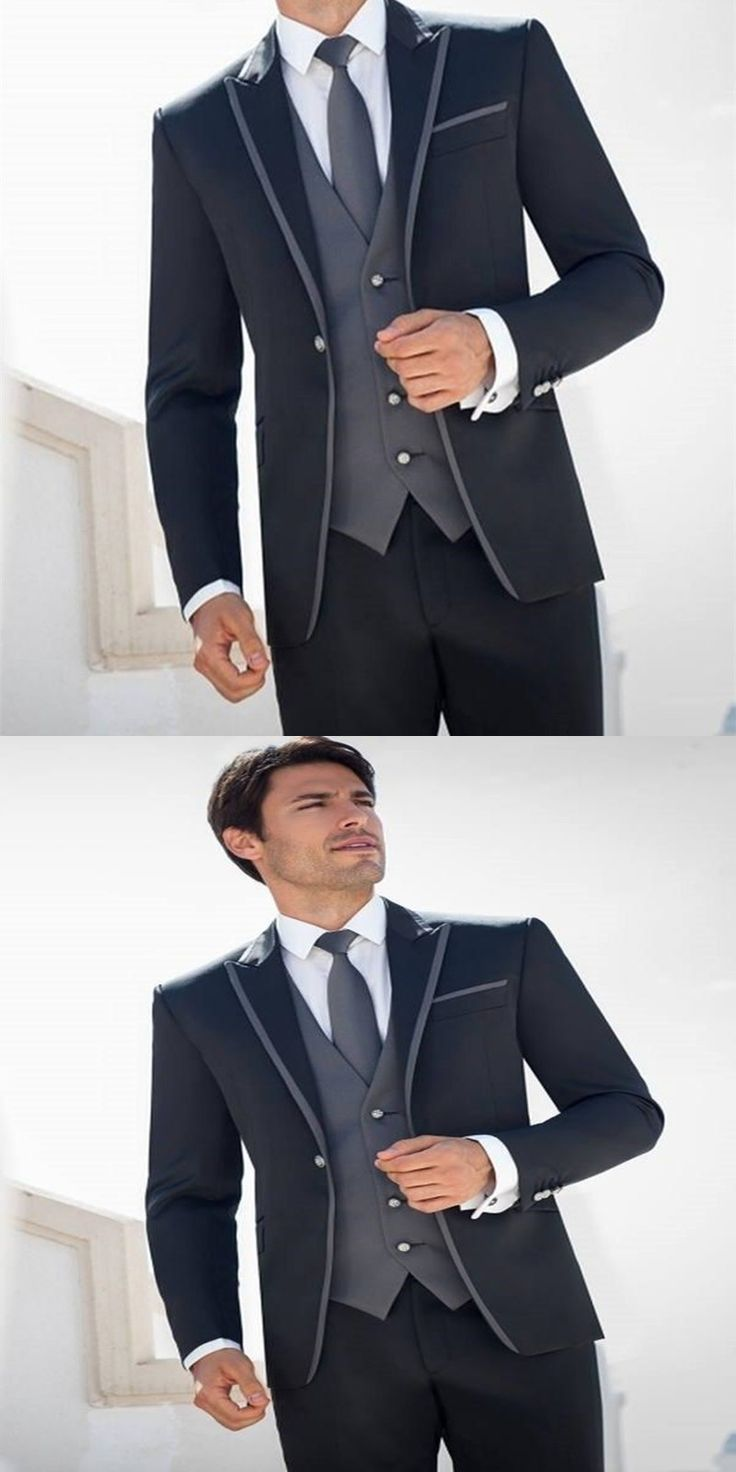 NoEnName Null Custom Costume Homme Marriage Groom Men Tuxedos Suit Groomsmen Wedding Suits For Prom