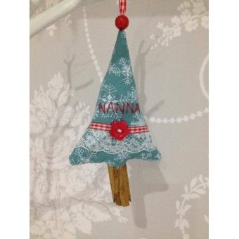 Handmade Cinnamon Stick Christmas Tree Decoration