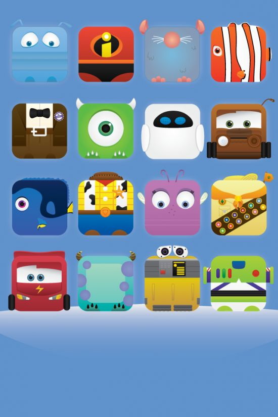 Awesome Pixar iPhone wallpapers.