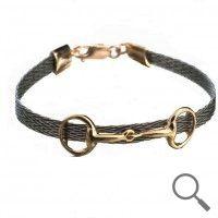 The original collection by designer Nanna Salmi Horsehair bracelet Mistral, Ribbon 6mm