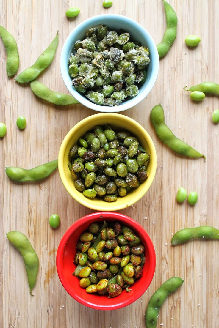 THE MOST ADDICTING (healthy) SNACK: FLAVORED ROASTED EDAMAME THREE WAYS!