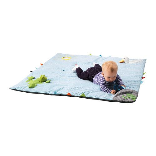 LEKA Play mat IKEA Different motifs, sounds and materials activate the baby and stimulate their senses and motor skills.