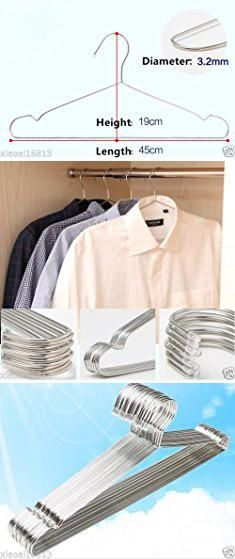 "Target Calphalon. AA 4pcs 17.7"" Large Heavy Duty Solid Stainless Steel Clothes Coat Hangers.  #target #calphalon #targetcalphalon"