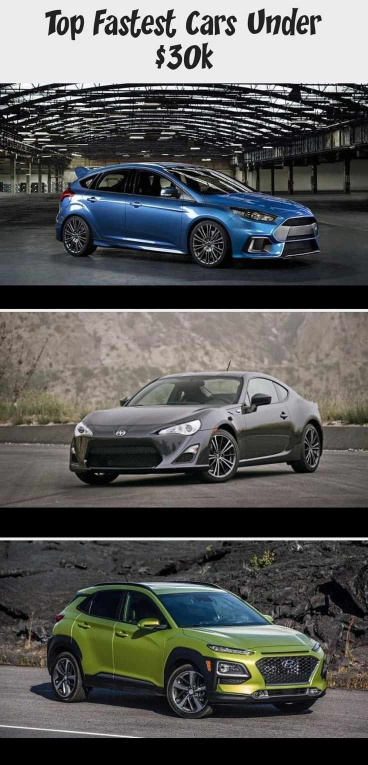 Top Fastest Cars Under 30k Cars in 2020 Fast cars