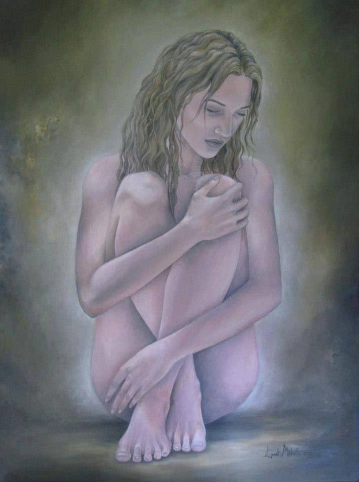 Fragile Heart,  oil on canvas by Landi-Michelle van den Berg