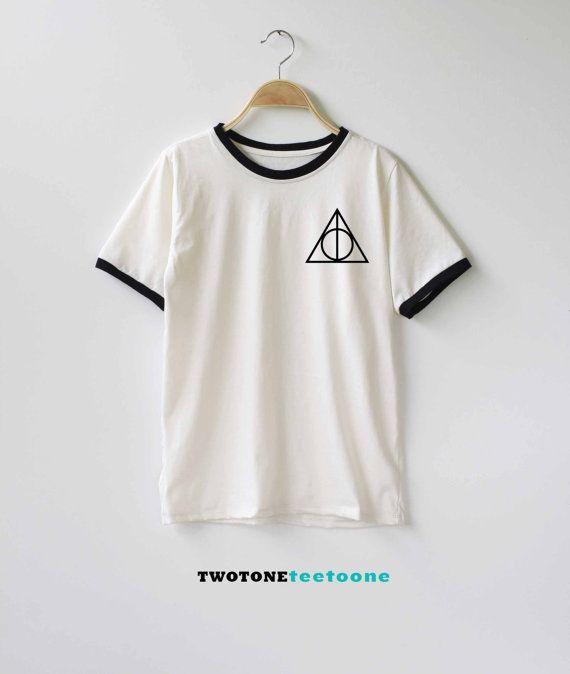 Deathly Hallows Shirt Harry Potter Shirt TShirt T-Shirt T Shirt Tee