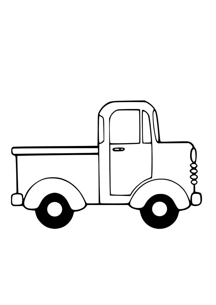 Truck Black White Line Art Christmas Xmas Toy Scalable Vector Graphics