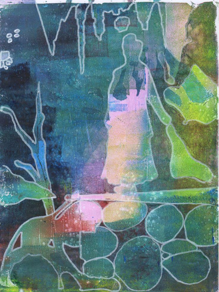 Sofia Windjusveen. Gelliprinting and ink.