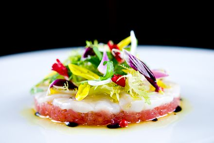 "Spring Tuna Tartare & Scallop Crudo with Pink Peppercorn ""Salad"" by zencancook #Salad #Tuna #zencancook"