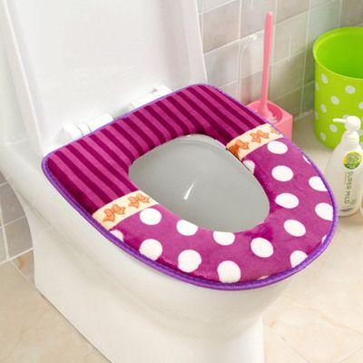 200 pcs free shipping Polka Dot plush thick warm waterproof potty toilet seat pad antibacterial/8