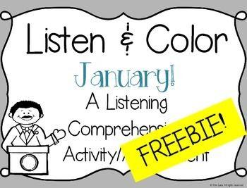 Listen and Color FREEBIE: A Listening Comprehension Activi
