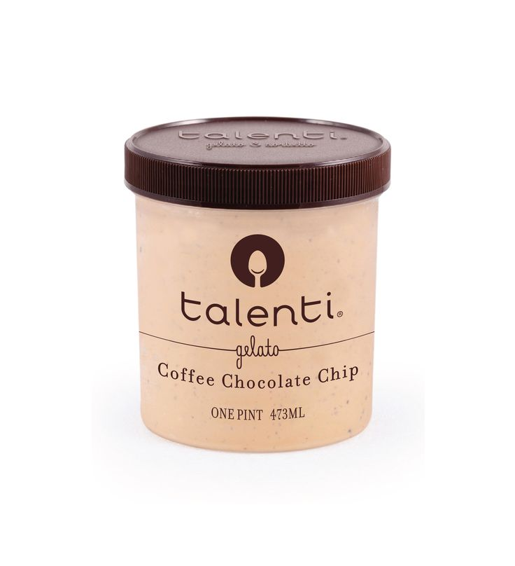 Talenti Coffee Chocolate Chip gelato. Bittersweet Dutch cocoa infused with Italian espresso? You can just call us the diplomats of deliciousness.