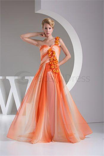 One Shoulder A-Line Chiffon Silk-like Satin Wedding Guest Dress http://www.GracefulDress.com/One-Shoulder-A-Line-Chiffon-Silk-like-Satin-Wedding-Guest-Dress-p20401.html