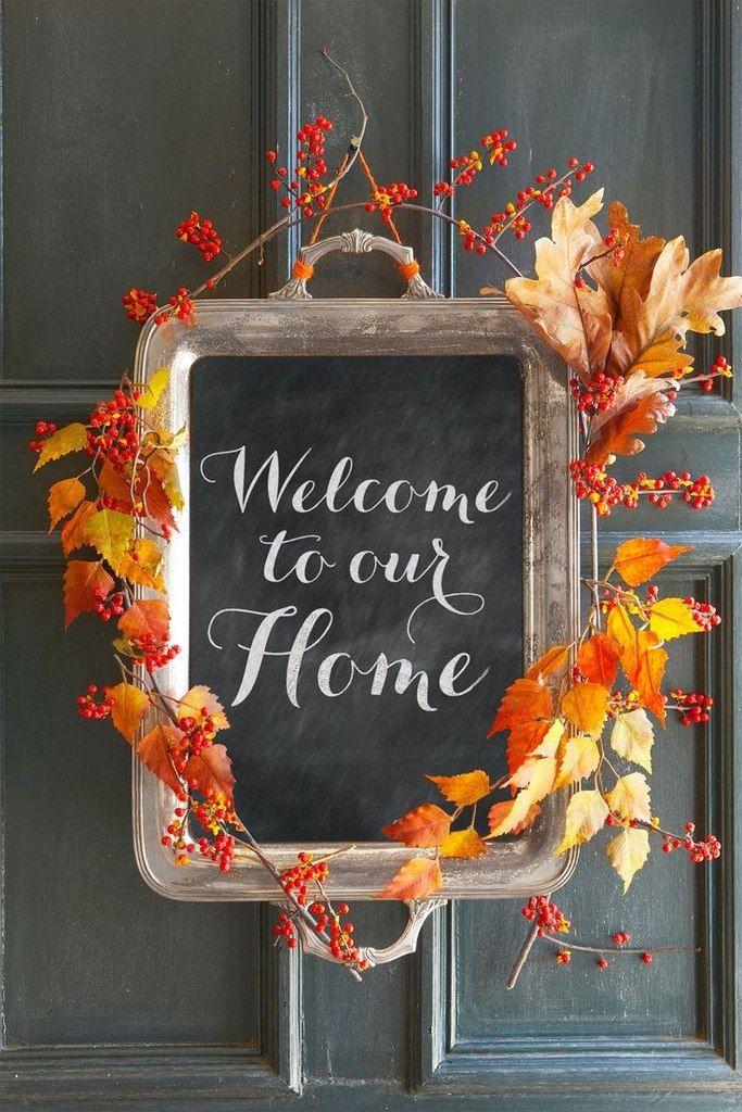 Осенний декор двери