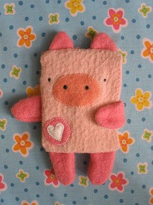 Plush Pig softie Cute for a hot water bottle cover
