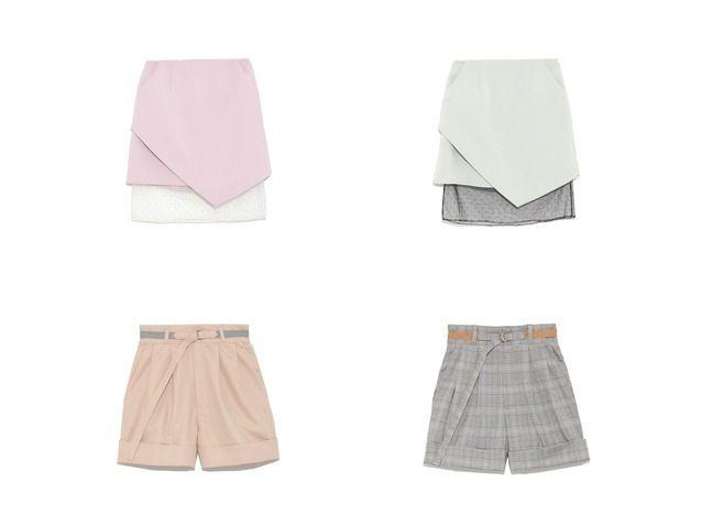 おすすめ!人気アイテム  FURFUR/ファーファーのサファリショートパンツ&ヘムライン台形スカートのファッション通販