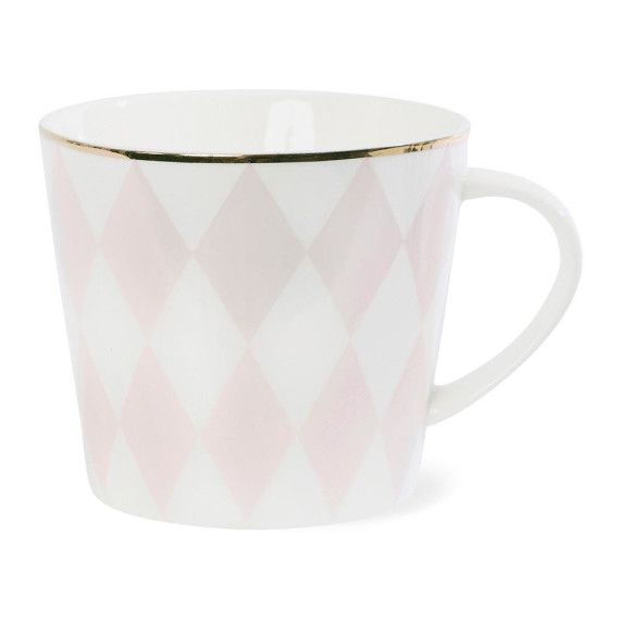 Harlequin Ceramic Coffee Mug - Rose