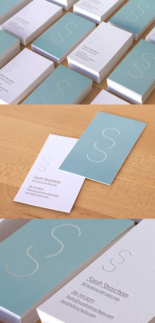 Understated But Highly Effective Pastel Minimalist Business Card Design