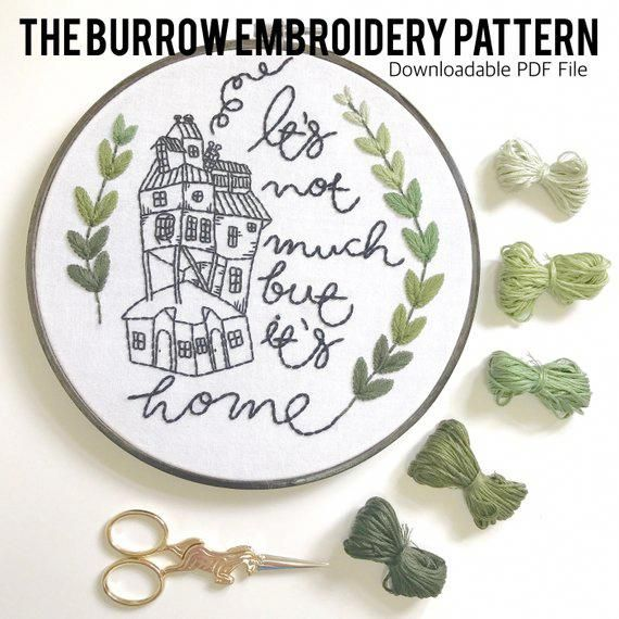 The Burrow Embroidery Pattern. Pattern Download. Harry Potter Quote ...