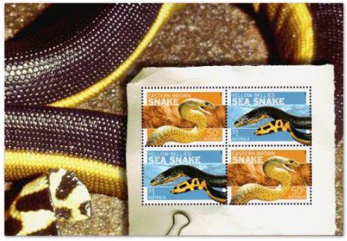 stamp-sheet-australia-snakes-2006