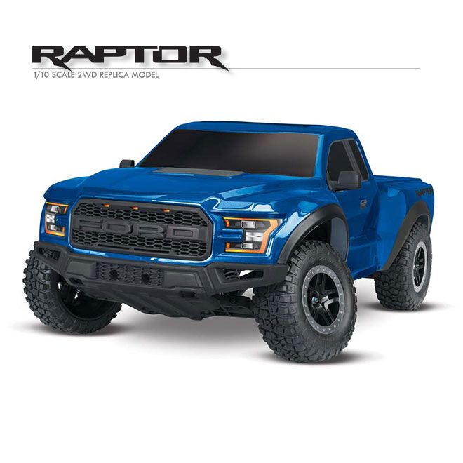Traxxas 2017 Ford Raptor TQ RTR. The Traxxas 2017 Ford Raptor is not only replica realistic, it's also an off-road thrill ride that's guaranteed to wow. Its sleek body and injection molded composite grill capture the depth of detail on the original Ford design. Plus, it's all built around the tough, high-performance Traxxas Slash.