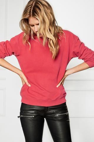 Anine Bing Nantucket Red Vintage Sweatshirt