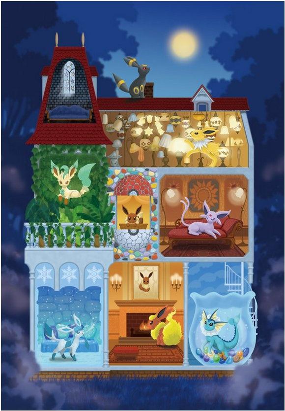 Eeveelutions | la Maison de Eievui | www.ebay.ca | Eevee -- Pokémon [listing has been removed]