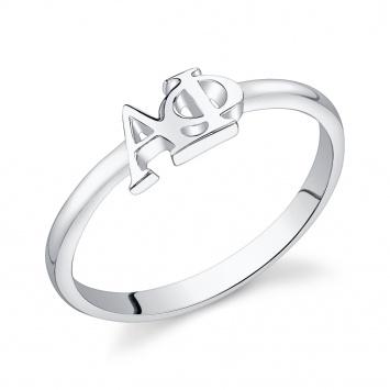 sterling silver Alpha Phi ring #alphaphi $28.00