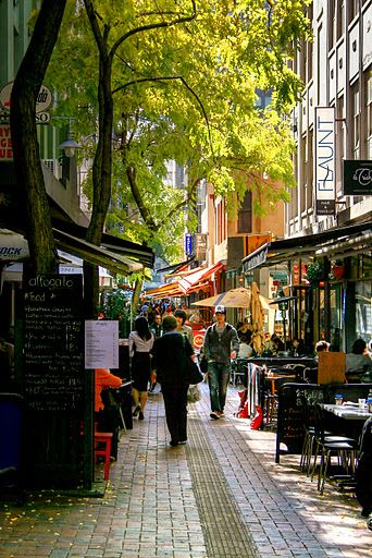 """Hardware Lane, Melbourne CBD, Australia. This does the best coffee and breakfast!"" -- And another of those wonderful places in melbourne I loved to go! Not sure I'd say it's the *best* coffee or breakfast, but it is fantastic! But there are so many in Melbourne that are! :D"