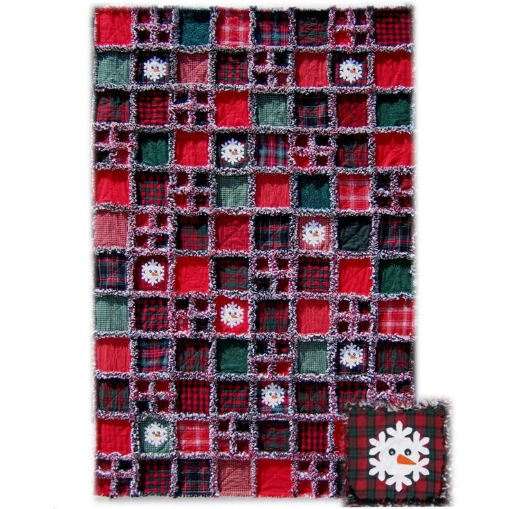 Flaky Snowmen Quilt Pattern - always wanted to make a rag quilt Quilts/Sewing Pinterest ...